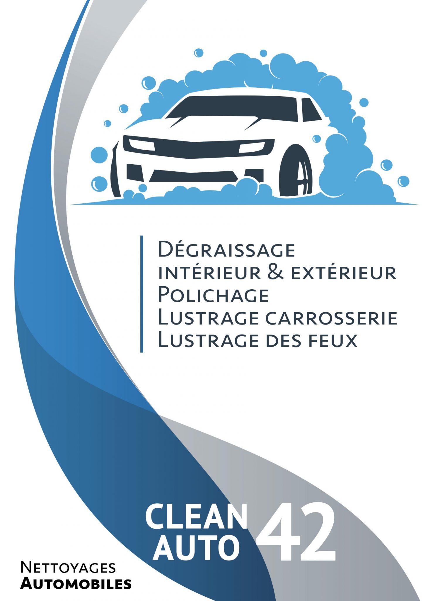 clean Auto flyer, fait par AGENCE DE COMMUNICATION & PUBLICITE HL communication