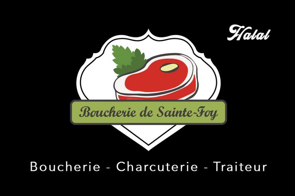 boucherie Sainte Foy face, fait par AGENCE DE COMMUNICATION & PUBLICITE HL communication