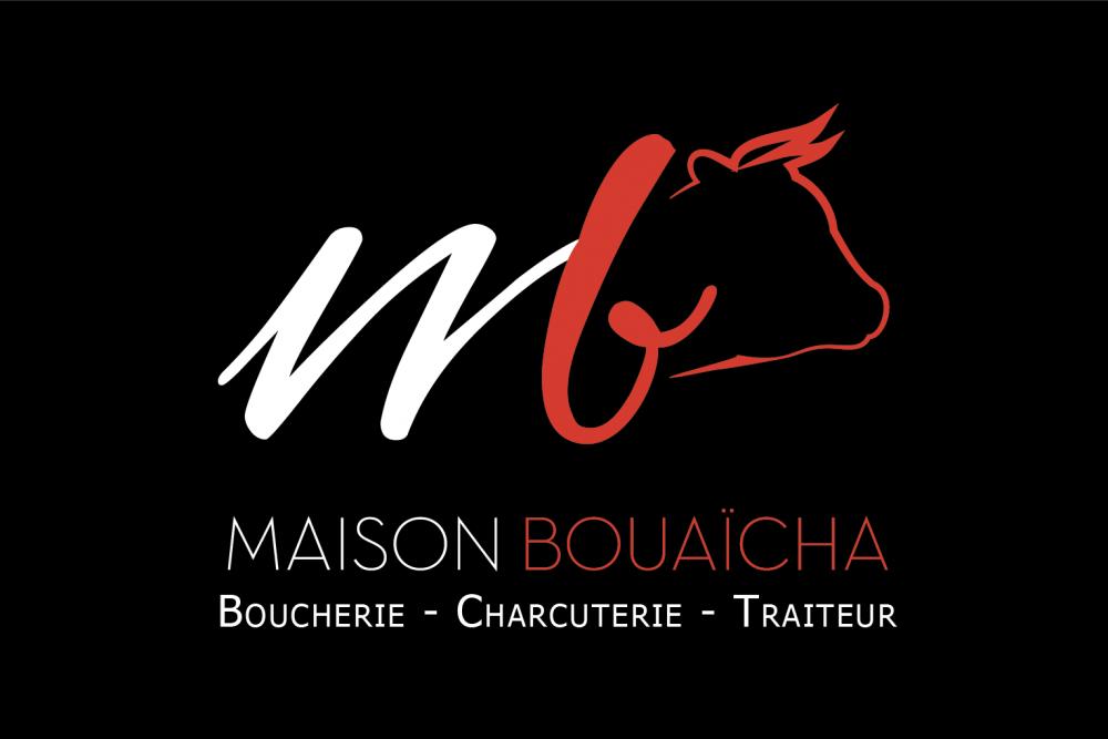 Maison bouaïcha carte de visite face, fait par AGENCE DE COMMUNICATION & PUBLICITE HL communication